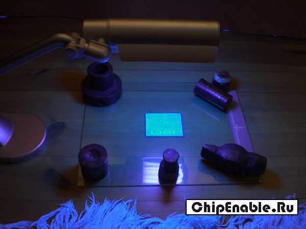Фоторезист негативный под обычной лампой