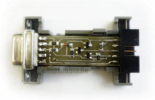 AVR программатор, собранный на печатной плате