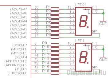 выведение на индикатор чисел со знаком