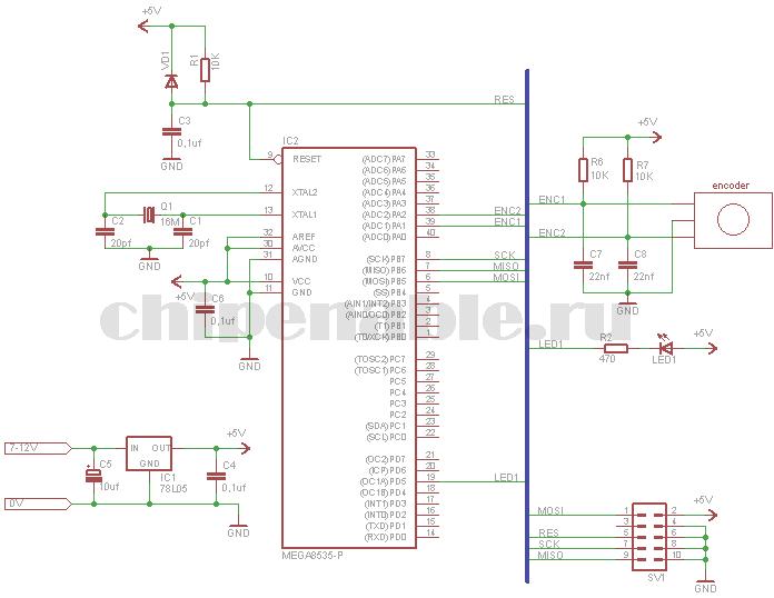 схема подключения энкодера к