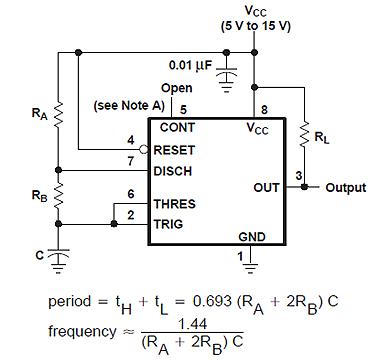 Несущая частота для светодиодов, генерируется с помощью 555-го таймера и равна 37 кГц.